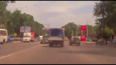 Авария с велосипедисткой в Воронеже 09 06 2015