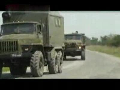 российские войска выходят из Гори