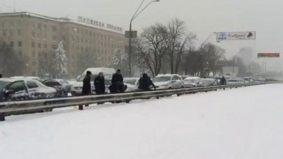 Киев. Снежная катастрофа.