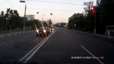 Мотоциклист на Минеевском мосту