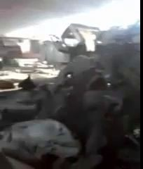 Украинский самолет разбомбил аварийно-спасательную часть 15.07.2014.