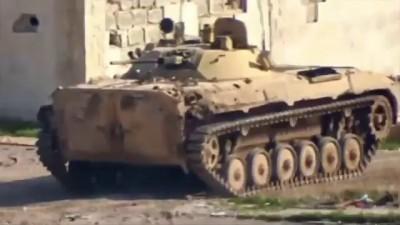 Танкист САА заметил ПТУР и оператора боевиков