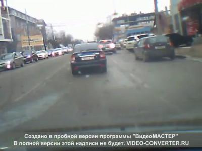 Авария в Краснодаре на Красных партизан 12-03-2015