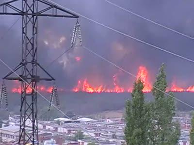 Пожар в Воронеже, авторынок