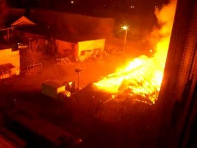 Пожар в Киеве на улице Невская