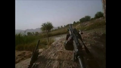 CLOSE RANGE FIREFIGHT WITH TALIBAN VISIBLE