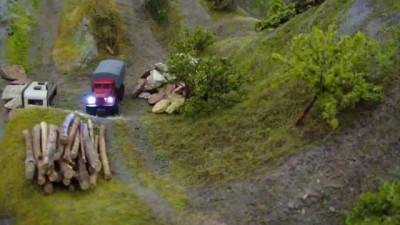 RC KRAZ 255 Truck Trial 1/87