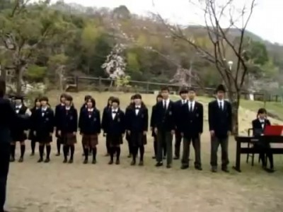 Armenia Японские школьники поют по армянски Erebuni-Yerevan