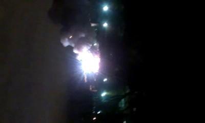 Пожар на складе пиротехники Оренбург