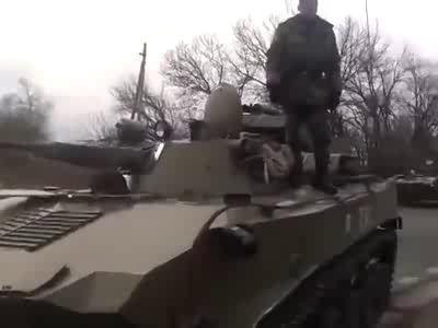 Украинские танки наехали на мирных жителей