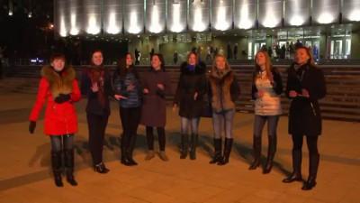 Краснодарские девочки поздравляют Россию - Конь