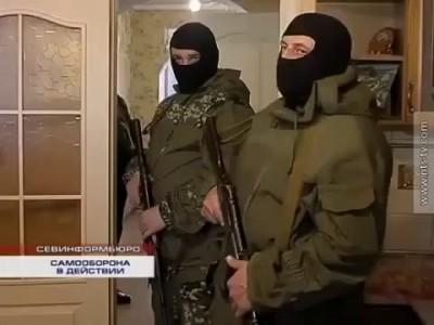 Задержание фашистов в Севастополе [16/03/2014]