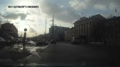 ДТП. Томск. Перкрёсток Пушкина-Яковлева.