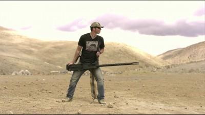 Handheld M2 .50 Cal Machine Gun