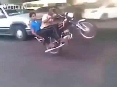 Two mofos on a motorcycle