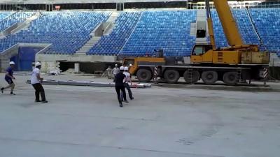 Первый футбольный матч на «Зенит-Арене»