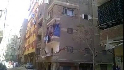 обрушение дома в Египте