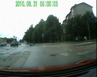 Авария с участием машины спасателей