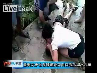 Медсестра спасла утопленника