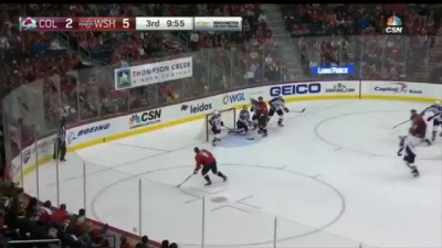 Orlov Wacky Goal After Everyone Loses Track of the Puck vs Colorado
