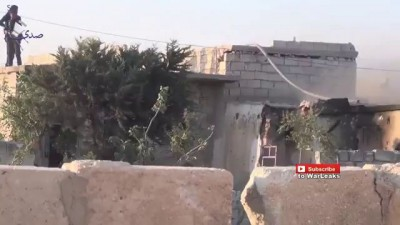 Syria War 2015 - IS Fighter Blows Himself Up After Being Surrounded By Free Syrian Army Fighters