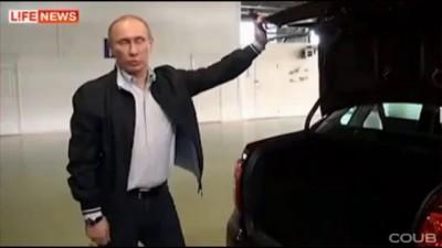 Путину поцарапали машину