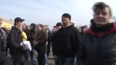 Кернеса выгнали с митинга 15.03.2014 Харьков