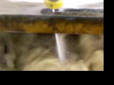 Water Jet Cutter Cutting Two Inch Steel