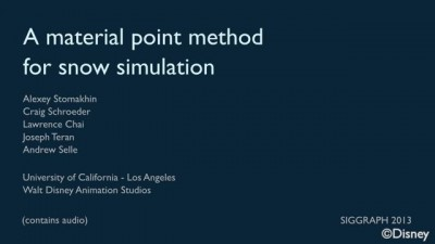 Disney's Frozen - A Material Point Method For Snow Simulation