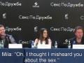 Justin Timberlake & Mila Kunis in Moscow w/subtitles HD