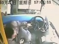 Chinese Bus Driver Dodges Death From a Pole Smashing Through The Windscreen