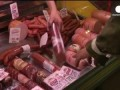 Video: Masked soldiers in Crimea queue up for sausages at grocery store