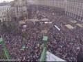 """Потрясающее видео """"Марша миллиона"""" на Майдане с высоты главной елки"""