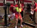 Woman Screams During Weight Lifting Competition