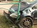 Пьяная девушка попадает в аварию и устраивает драку