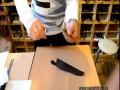 Филейный нож Касатка - снятие филе с листа бумаги