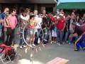 Уличные акробаты в Сан-Паулу