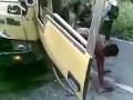 Последствия аварий грузовиков