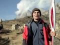 Прыжок с Олимпийским факелом