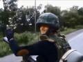 Бойцы Новороссии въезжают в Донецк на бронетехнике
