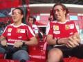 Алонсо и Масса катаются на горках от Ferrari