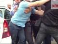 Дагестанцы избивают полицейского
