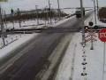 авария на ж д переезде из за скользкой дороги