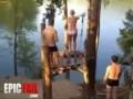 Облом с прыжком на озере