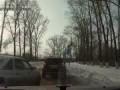 Хитрый водитель ВАЗа решил срезать дорогу