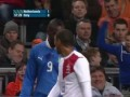 Ballotelli attacks ASTRONAUTS during Netherlands 1-1 Italy - 07-02-13
