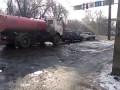 30.12.2015 Алматы чистят дороги водой