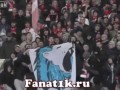Funny Russian football fans with rival's banner Lion sucks the penis