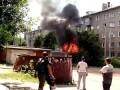 Пожар и взрыв в гараже в Иваново