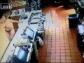 Topless chick goes crazy in Mcdonalds